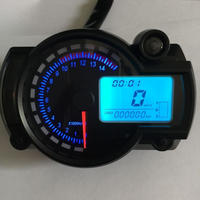 オートバイ用 汎用品 デジタル Lcd スピードメーター タコメーター 走行距離計 オドメーター スピードセンサー オイルレベルメーター バックライト色7パターン(mk00183)