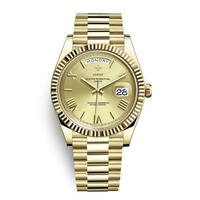 メンズ腕時計 アナログ 高級ブランド メタリック レトロ アンティーク カレンダー ステンレス 防水機能 ゴールド色(kk04042)