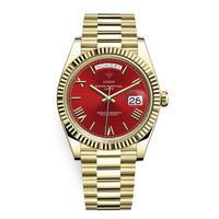 メンズ腕時計 アナログ 高級ブランド メタリック レトロ アンティーク カレンダー ステンレス 防水機能 レッドゴールド色(kk04033)
