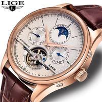メンズ 腕時計 海外製 機械式 自動巻き トゥールビヨン 50M防水 サファイヤガラス ムーンフェイズ 高級時計