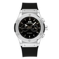 PAULAREIS クロノグラフ メカニカル 機械式 ジュネーブ 腕時計 レザーストラップ ラバーストラップ メンズ 送料無料 Silver 1(kk00876)