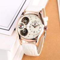 FORSINING レディース 腕時計 機械式 トゥールビヨンタイプ ラインストーン 本革 バンド 通勤 通学 ビジネス(kk04649)