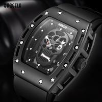 Baogela メンズ 腕時計 カジュアル 海賊スタイル シリコーン クォーツ 男性用 時計(kk04519)