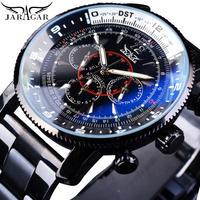 JARAGAR メンズ 腕時計 ウォッチ 自動巻き 機械式 ルミナスハンズ スポーツ ステンレス 男性用 ビジネス カジュアル ファッション 送料無料 (kk04509)