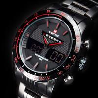 Naviforce メンズ 腕時計 スポーツ  クォーツ デジタルアナログ デュアルタイプ フルスチール 通学 通勤(kk04591)