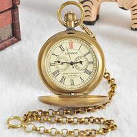 懐中時計 ゴールド ヴィンテージ レトロ ユニセックス 男女兼用 合金 機械式 チェーン(kk04507)