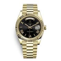 メンズ腕時計 アナログ 高級ブランド メタリック レトロ アンティーク カレンダー ステンレス 防水機能 ブラックゴールド色(kk04034)