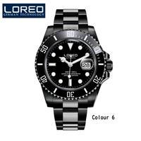 メンズ腕時計 LOREOメンズウォッチトップブランドラグジュアリーサファイアルミナス自動機械式腕時計ダイバー200Mメンズ腕時計Relogio Masculino Type-B(kk03702)