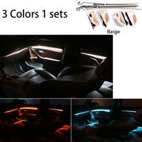 BMW用 LED アンビエントドア ライト 3色 調光 カー アクセサリー インテリア装飾 Bmw 5 シリーズ F10/F11 Beige(kk04169Beige)