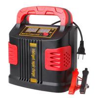 LCDバッテリー充電器 12V-24V車ジャンプスターターポータブル OOTDTY 350W 14A AUTO PLUS調整(kk04062)