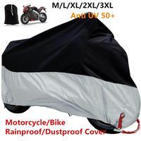 盗難防止ロック穴オートバイカバー 防風バイクプロテクター 軽量 屋外防塵 サイズM(mk00281)
