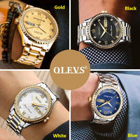 OLEVS メンズ 腕時計 ウォッチ クォーツ ルミナス サファイアクリスタル 防水 男性用 カジュアル ラグジュアリー ビジネス(kk04562)