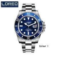 メンズ腕時計 LOREOメンズウォッチトップブランドラグジュアリーサファイアルミナス自動機械式腕時計ダイバー200Mメンズ腕時計Relogio Masculino Type-A(kk03701)