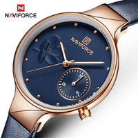 NAVIFORCE レディース 腕時計 ウォッチ クォーツ 防水 レザーベルト 革 女性用 ラグジュアリー  ファッション カジュアル NF5001(kk04609)