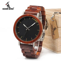 BOBO BIRD メンズ 木製 腕時計 男性 クール ウッド ストラップ クォーツ 時計 ウォッチ(kk04508)