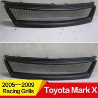 トヨタ用 マークX GRX120 フロントメッシュグリル レーシンググリル フロントグリル Refit フロントセンターグリルカバー Matte black style2(mk00190)
