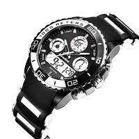 トップブランド高級時計 男性ラバーLED デジタルメンズクォーツ時計 スポーツ アーミーミリタリー腕時計 エルケクコルサーティ(kk04220BLACK)