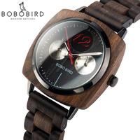 BOBO BIRD メンズ 腕時計 ウォッチ クォーツ式 木製時計 ウッド スタイリッシュ ミリタリー 男性用 カジュアル ファッション ギフト プレゼント(kk04646)