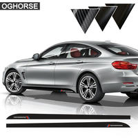 BMW用 カースタイリング Mパフォーマンス サイドストライプスカート ステッカー デカール f30 f31 x5 f15 f85 e60 e61 f22 e90 f10 f01(kk04100)