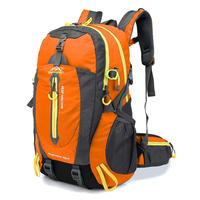 男女用 40Lバックパック 登山バックパック 男性女性 防水旅行 ハイキングラップ トップデイパック トレッキング登山リュックサック(kk04087Orange)