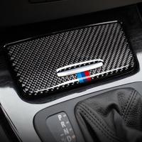 BMW用 収納ボックスパネルトリムカバー デカール E90 E92 E93 3シリーズ2005-2012カーボンファイバーステッカー インテリア / M styling(mk00298)