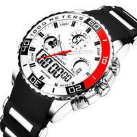 トップブランド高級時計 男性ラバーLED デジタルメンズクォーツ時計 スポーツ アーミーミリタリー腕時計 エルケクコルサーティ(kk04220RED)