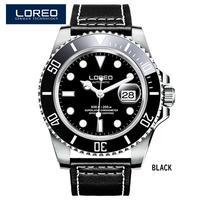 メンズ腕時計 LOREOメンズウォッチトップブランドラグジュアリーサファイアルミナス自動機械式腕時計ダイバー200Mメンズ腕時計Relogio Masculino Type-C(kk03703)