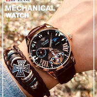 AILANG メンズ 腕時計 ウォッチ 自動巻き 機械式 ルミナスハンズ スポーツ 防水 男性用 シンプル カジュアル ファッション ビジネス(kk04673)