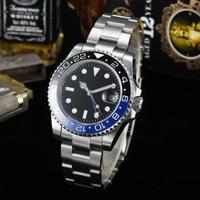 黒青ツートンベゼル セラミックベゼル サファイアガラス ノーロゴ オマージュウォッチ 自動巻き腕時計