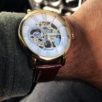 FORSINING メンズ 腕時計 ウォッチ 自動巻き 機械式 レーザー スケルトン 男性用 ビジネス カジュアル ファッション(kk04516)