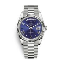 メンズ腕時計 アナログ 高級ブランド メタリック レトロ アンティーク カレンダー ステンレス 防水機能 ブルー&シルバー色(kk04039)