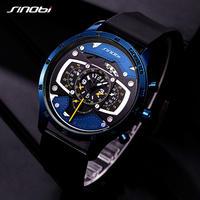 SINOBI メンズ 腕時計 クリエイティブ スピードレーシング スポーツ クロノグラフ シリコン クォーツ(kk04549)