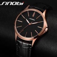 SHINOBI メンズ 腕時計 ウォッチ 極薄タイプ 日本製クォーツ ルミナス シンプル レザーバンド 男性用 ファッション カジュアル ビジネス レロジオ(kk04539)