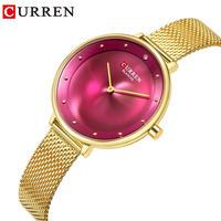 CURREN Women's Lady レディース ビジネス 腕時計 ステンレス Steel ウォータープルーフ 防水 ウォッチ 通勤 通学 カジュアル(kk04644)