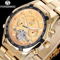 FORSINING メンズ 腕時計 ウォッチ 自動巻き 機械式 カレンダー トゥールビヨン 日常生活防水 ラグジュアリー 男性用 ビジネス時計(kk04548)