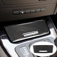 BMW用 収納ボックスパネルトリムカバー デカール E90 E92 E93 3シリーズ2005-2012カーボンファイバーステッカー インテリア / Classic styling(mk00297)