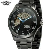 T-WINNER メンズ レディース 腕時計 ウォッチ 自動巻き 機械式 自動機械式 男性用 女性用 男女兼用 スケルトン ブラック スポーツウォッチ(kk04540)