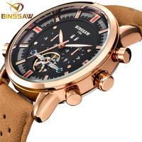 BINSSAW メンズ 腕時計 ウォッチ トゥールビヨン 自動巻き 機械式時計 ミリタリー スポーツ 防水 男性用 カジュアル ビジネス ファッション(kk04582)