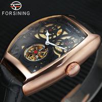 FORSINING メンズ 腕時計 本革 ストラップ スケルトン ダイヤルトノーデザイン 防水 通勤 通学 ビジネス カジュアル(kk04686)