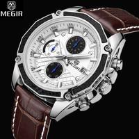 メンズ 腕時計 クォーツ式 MG  男性用 100m 防水 多機能 クロノグラフ(kk04422)