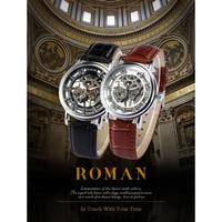 SEWOR メンズ 腕時計 ウォッチ スケルトン 手巻き 機械式時計 メカニカルウォッチ レザーバンド 男性用 カジュアル ファッション ビジネス シンプル(kk04655)