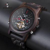 BOBO BIRD メンズ レディース 腕時計 ウッドウォッチ 自動巻き 機械式 木製 カレンダー カジュアル 2サイズ ペアウォッチ ギフト プレゼント(kk04636)