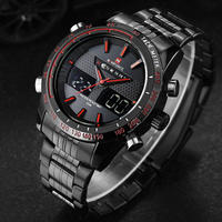 NAVIFORCE メンズ 腕時計 アナログ デジタル 防水 ラグジュアリー クォーツ アウトドア ビジネス 通勤 通学 ウォッチ(kk04629)
