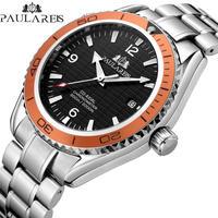 PAULAREIS  メンズ 腕時計 ウォッチ 自動 ステンレス スチール ビジネス 通勤 通学 カジュアル 男性用 シンプル(kk04658)