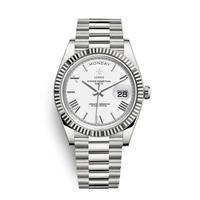 メンズ腕時計 アナログ 高級ブランド メタリック レトロ アンティーク カレンダー ステンレス 防水機能 ホワイト&シルバー色(kk04036)