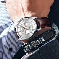 ONTHEEDGE ビジネス腕時計 メンズ 金針 クォーツ式 (kk00273)