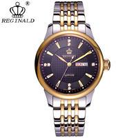 Reginald メンズ 腕時計 ウォッチ クォーツ式 クラシック カレンダー 防水 男性用 ビジネス カジュアル ファッション レロジオ(kk04560)
