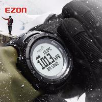 EZON メンズ 腕時計 ウォッチ 多機能 スポーツ デジタル クロノグラフ 高度計 バロメーター コンパス 温度計 ハイキング 登山 防水(kk04561)