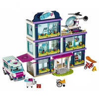レゴブロック互換 おもちゃ ハートレイクシティの病院 ビルディングブロック互換 ブロック数:932個 41318 知育玩具 教育玩具(mk00224)