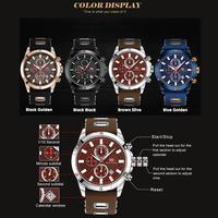メンズ腕時計 クロノグラフ クォーツ時計 スポーツ腕時計 ルミナス 海外高級ブランド MINIFOCUS ミリタリー ラバーストラップ 防水(kk03597-kk03600)